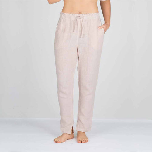 The Linen Pants - Pink - Eadie Lifestyle