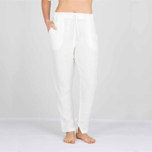 The Linen Pants - White - Eadie Lifestyle