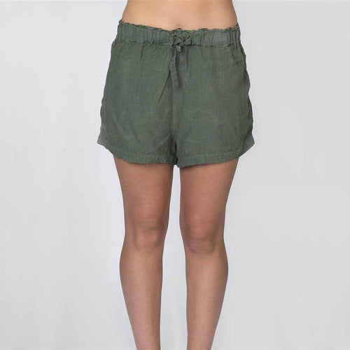 The Linen Shorts - Khaki - Eadie Lifestyle
