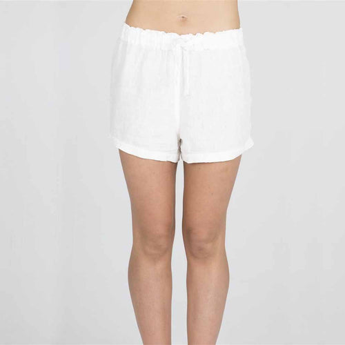The Linen Shorts - White - Eadie Lifestyle