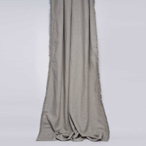 luca boho curtain pre made tie fringe european linen silver grey by eadie lifestyle