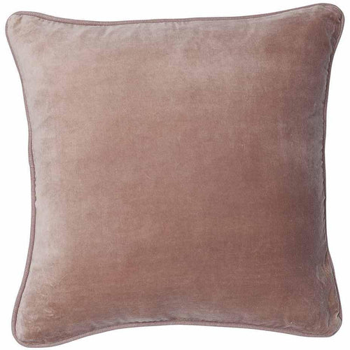 lynette cushion cotton velvet linen piping finish plump feather insert musk by eadie lifestyle