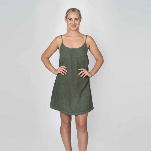 The Nightie/Summer Dress - Khaki - Eadie Lifestyle