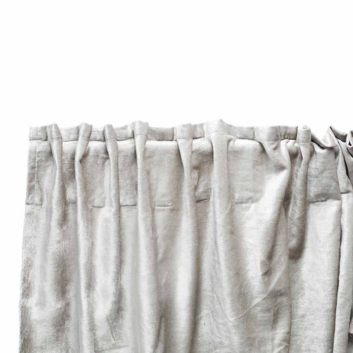 precious curtain metallic viscose velvet finish silver by eadie lifestyle