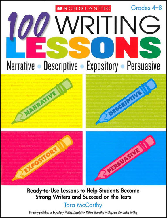 100 Writing Lessons </br> Item: 110020