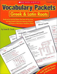 Vocabulary Packets: Greek & Latin Roots </br> Item: 124126