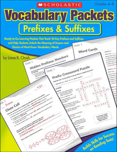 Vocabulary Packets: Prefixes & Suffixes </br> Item: 198646