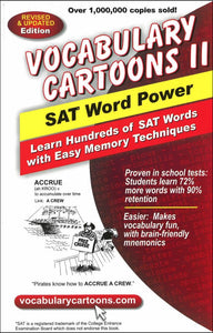 Vocabulary Cartoons II, SAT Word Power </br> Item: 242240