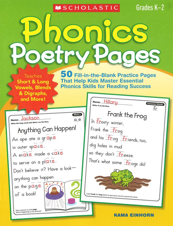 Phonics Poetry Pages </br> Item: 248709