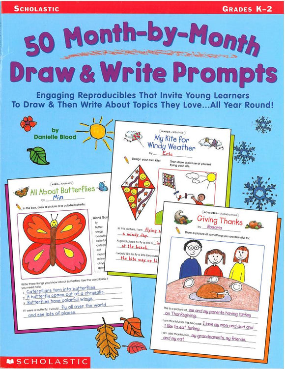 50 Month-By-Month Draw & Write Prompts </br> Item: 271764