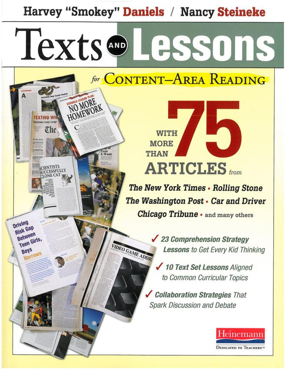 Texts and Lessons for Content-Area Reading </br> Item: 30876
