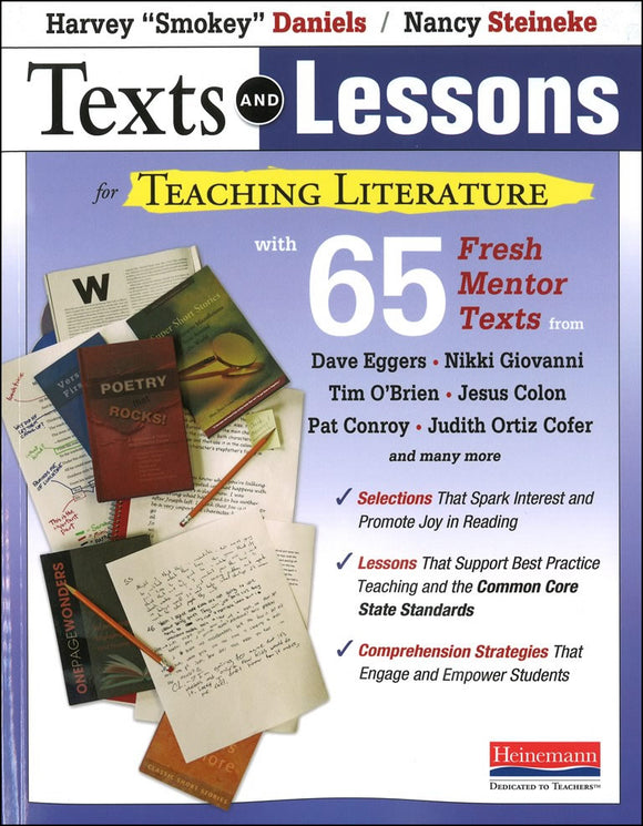 Texts and Lessons for Teaching Literature </br> Item: 44354
