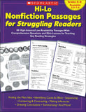 Hi-Lo Nonfiction Passages for Struggling Readers: Grades 6-8 </br> Item: 694988