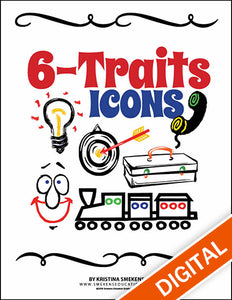 6 Traits Writing Icons & Posters, Item: 503