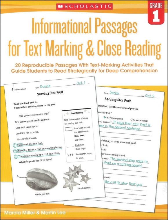 Informational Passages for Text Marking & Close Reading