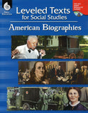 Leveled Texts for Social Studies: American Biographies </br> Item: 808945