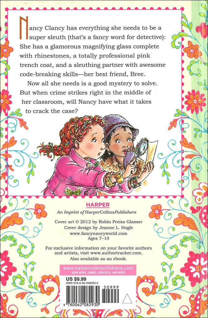 Nancy Clancy Super Sleuth Fancy Nancy Chapter Book 1 The Literacy Store