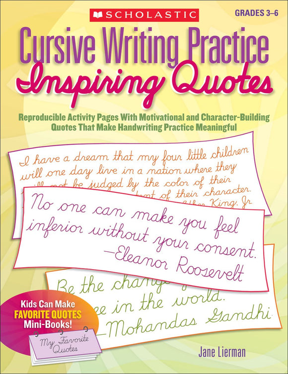 Cursive Writing Practice: Inspiring Quotes </br> Item: 94375