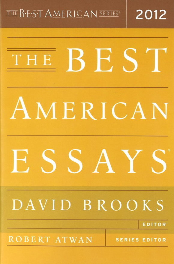 The Best American Essays (2012) </br>Item: 8400093