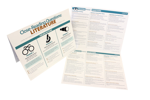 Close-Reading Questions for Literature Foldout