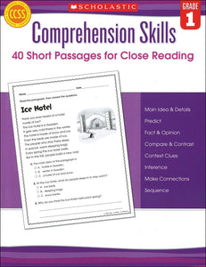 Comprehension Skills: 40 Short Passages for Close Reading