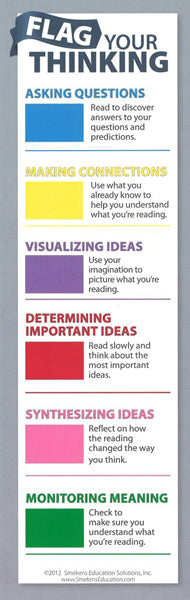 Flag Your Thinking Bookmarks </br> Item: 182