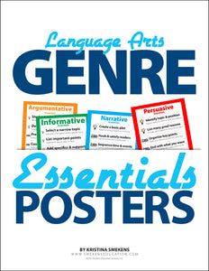 Language Arts Genre Essentials Posters & PowerPoint Presentations, Item: 524