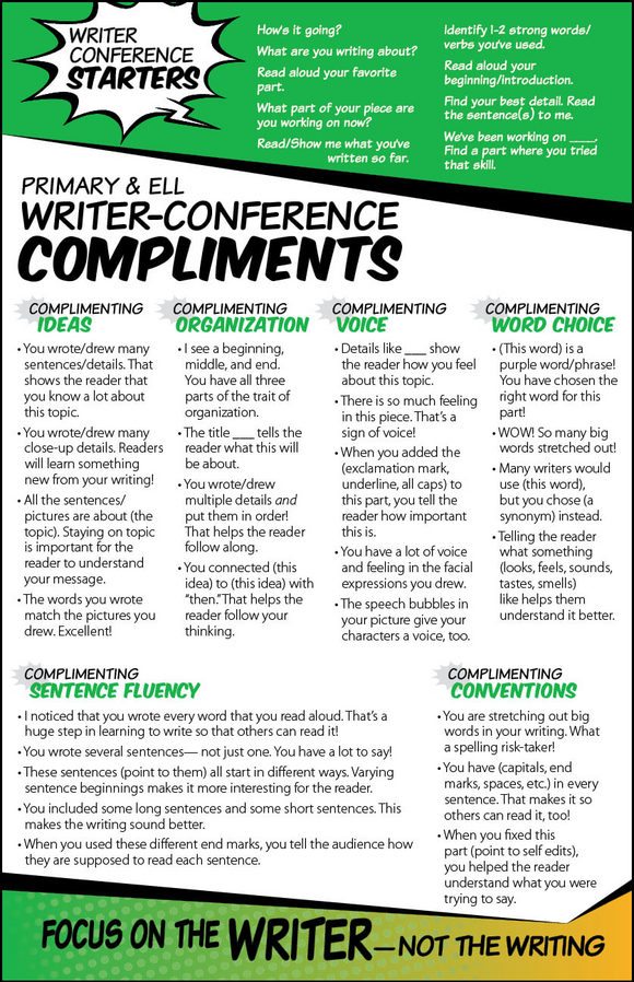 Writer Conference Compliment Card