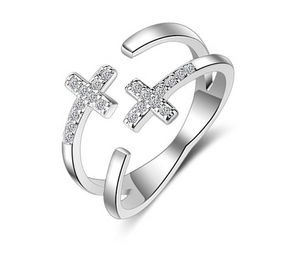 Cross Resizable Ring