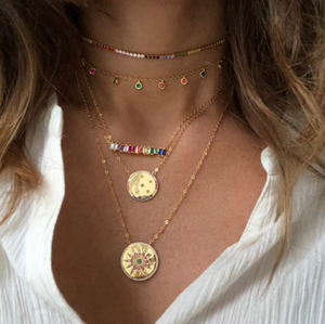 Pop of Color Layering Necklace
