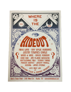 2019 Hideout Poster