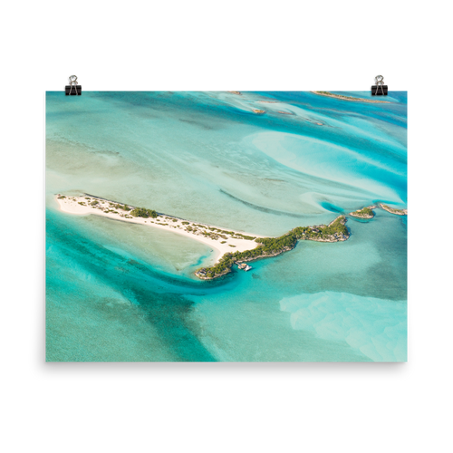 Flying Over The Bahamas Print