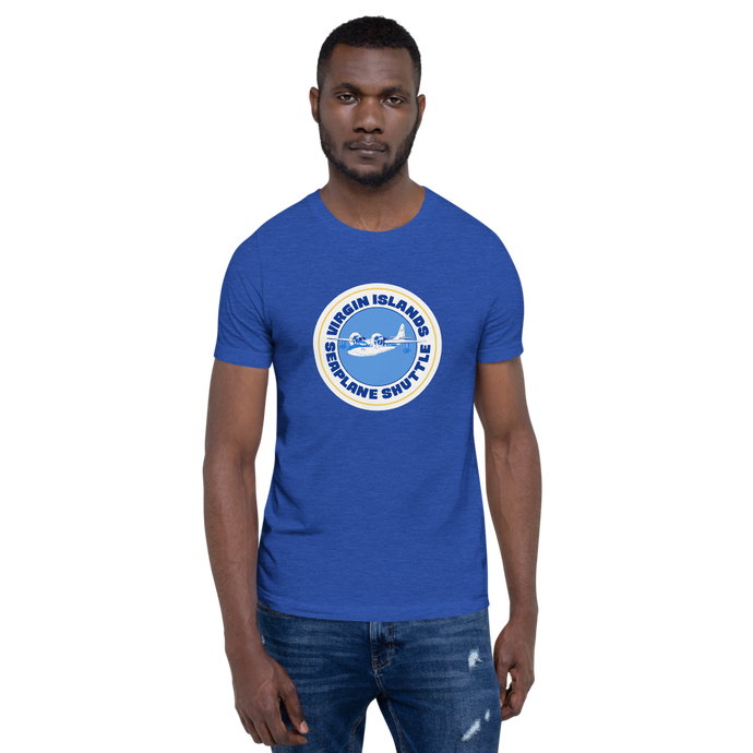 Virgin Islands Seaplane Shuttle Unisex Crew Neck T-Shirt (Blue)
