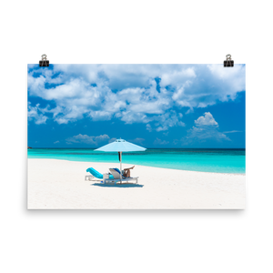 Anguilla Beach Day Print
