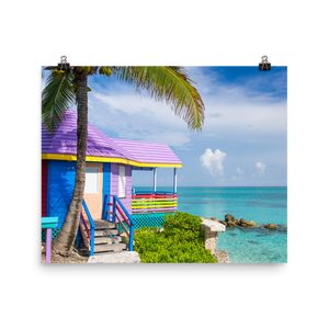 Colorful Compass Point Print