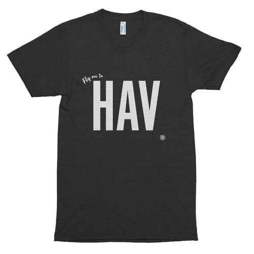 Fly me to Havana (HAV) Short Sleeve Soft T-Shirt