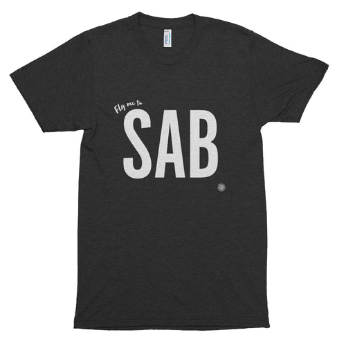 Fly me to Saba (SAB) Short Sleeve Soft T-Shirt