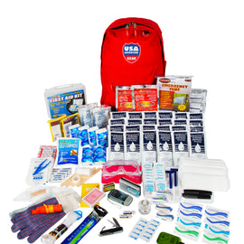 ReadyGear 2 Person 5 Day Essentials Emergency Kit - First Aid, Water, Tent, Sleeping Bag, Hygiene Kit and More Survival Tools for Hurricane, Earthquake, Winter, and other Disaster Relief