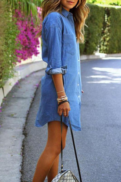 2019 New Style Denim Casual Dress