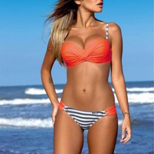 2018 New Sexy Candy Color Bikini Set Swimwear
