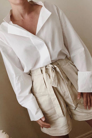 Casual White Wild Loose Shirt