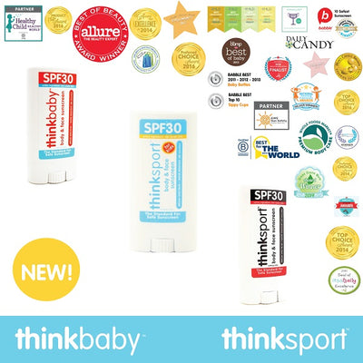Thinkbaby's award-winning mineral-based sunscreen now available as a convenient sunscreen stick