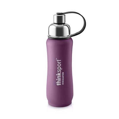 Thinksport Insulated Sports Bottle - 17oz (500ml) - Powder Coated - Purple