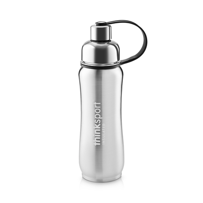 Thinksport Insulated Sports Bottle - 17oz (500ml) - Natural Silver