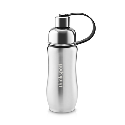 Thinksport Insulated Sports Bottle - 12oz (350ml) - Natural Silver