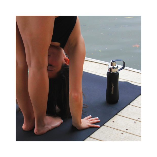 Thinksport Yoga / Pilates Mat - The Safe Mat - Black