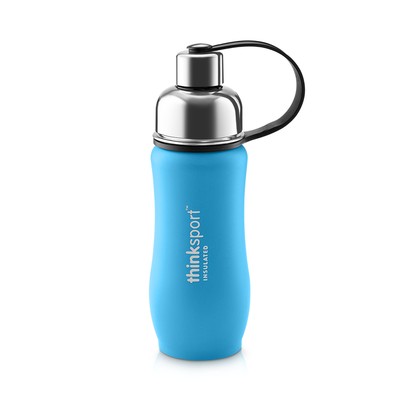 Thinksport Insulated Sports Bottle - 12oz (350ml) - Powder Coated - Lt. Blue