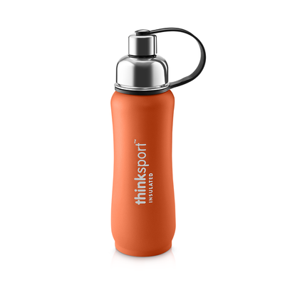 Thinksport Insulated Sports Bottle - 17oz (500ml) - Powder Coated - Orange