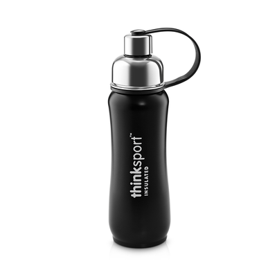 Thinksport Insulated Sports Bottle - 17oz (500ml) - Powder Coated - Black