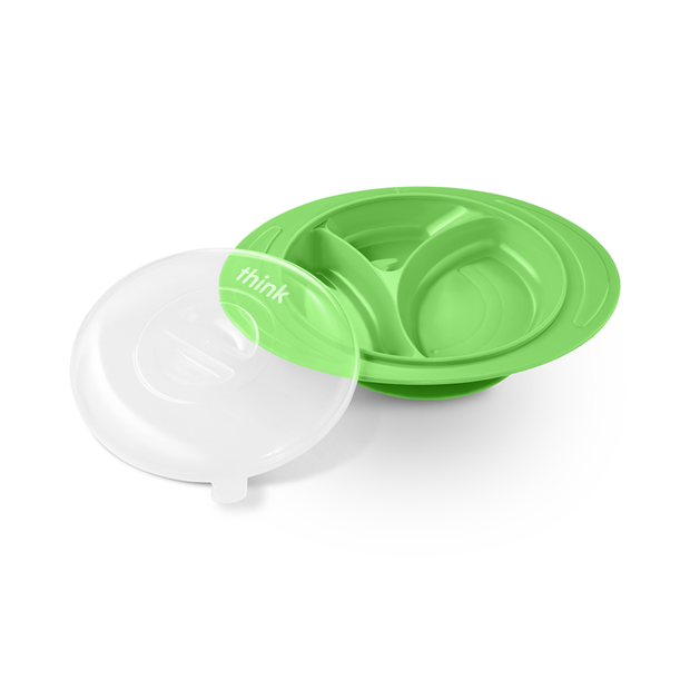 ThinkSaucer Suction Plate - Lt. Green